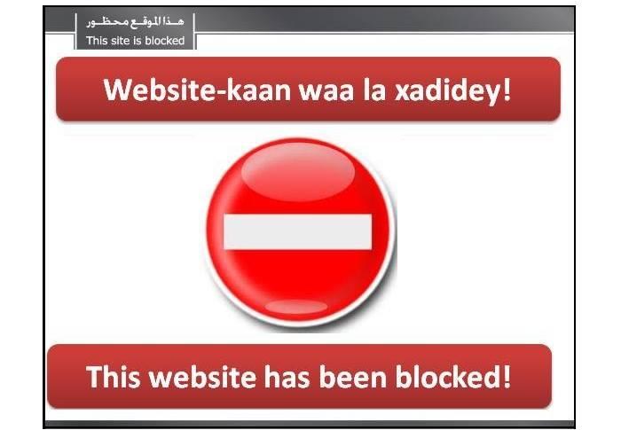 Topnews:-Dowladda oo xanibtay booqashadda Website-yada ugu caansan Somalia laakiin fasaxday kuwa Al-Shabaab .