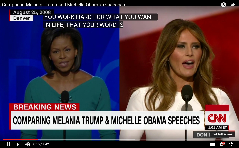 Daawo ceebtii aduunka - Xaaska Donald Trump oo xaday khudbadii Marwadda Madaxweyne Obama