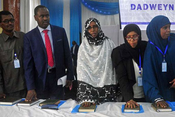 New legislators sworn in Somalia